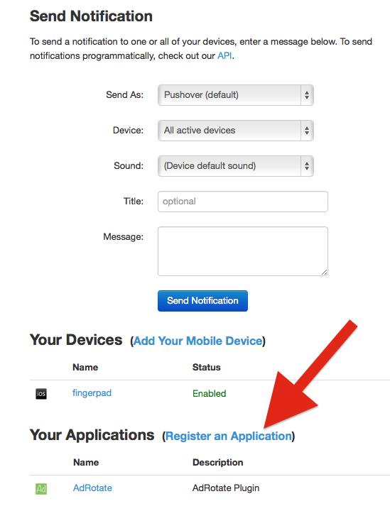 adrotate-pushover-create-settings