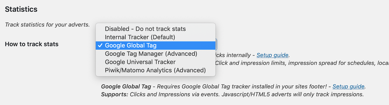 Google Analytics in AdRotate | AJdG Solutions