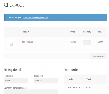 Single Page Checkout by Arnan de Gans