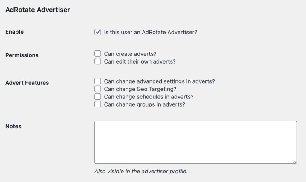 Advertiser Profile